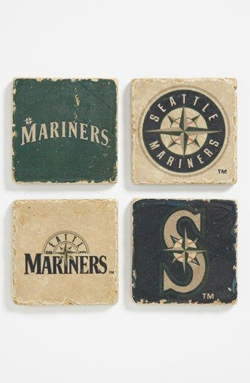 'Seattle Mariners' Marble Coasters (Set of 4) available at #Nordstrom