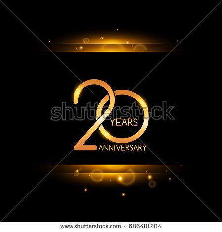 20 years golden anniversary celebration logo