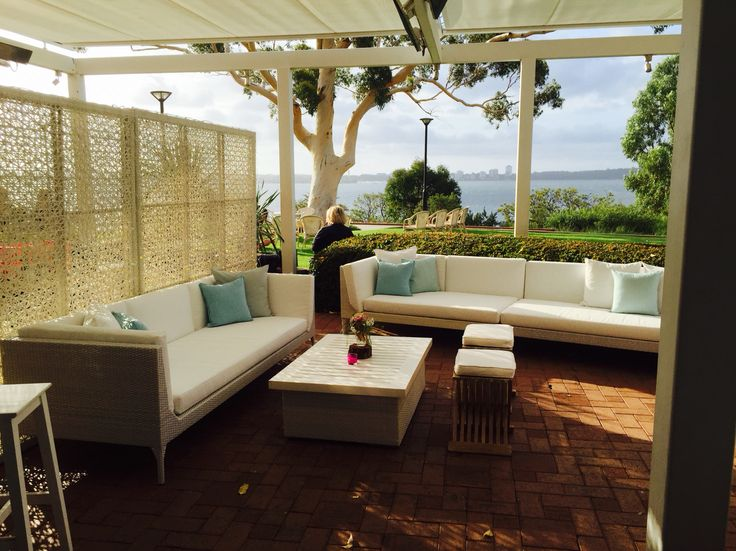 Lounges on Wine Room Terrace