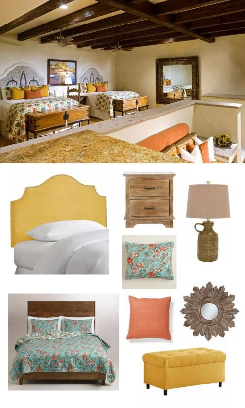 A spanish style bedroom perfect for either two little girls or a guest room.
