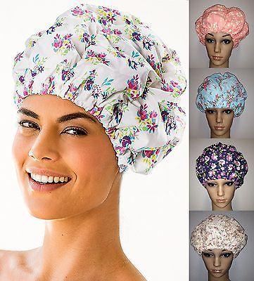 Farbauswahl - Fashy Duschhaube Duschkappe Damen mit Muster Blumen 3628