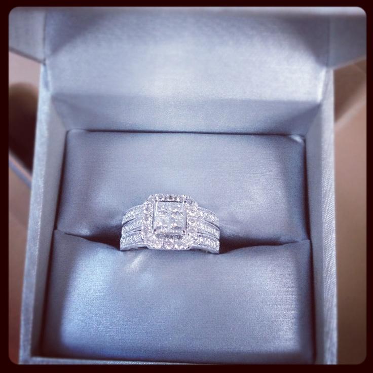 Zales Bridal Set Engagement Ring 2 Wedding Bands My DREAM