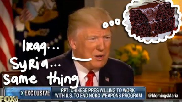 Trump Launched Missiles While Eating Chocolate Cake, but doesn't remember which nation he attacked