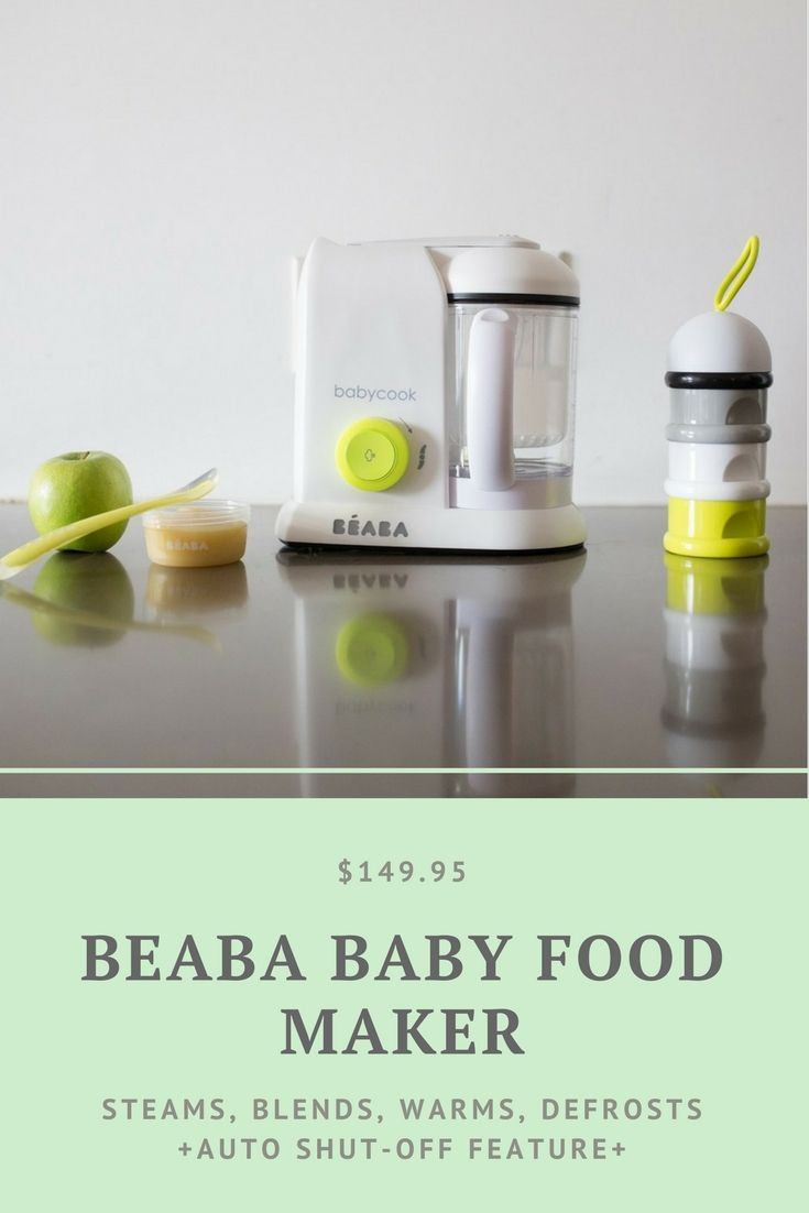 The BÉABA Baby Food Maker is AMAZING. I prefer it to other baby food makers because it also steams and warms food, and has an auto-shut off option. This is really great for steaming veggies and warming small amounts of baby food when you don't want to microwave or get out a huge steaming pot. I honestly use this for my own mini-meals too! #BEABA #BabyFood #BabyFoodMaker #Feeding