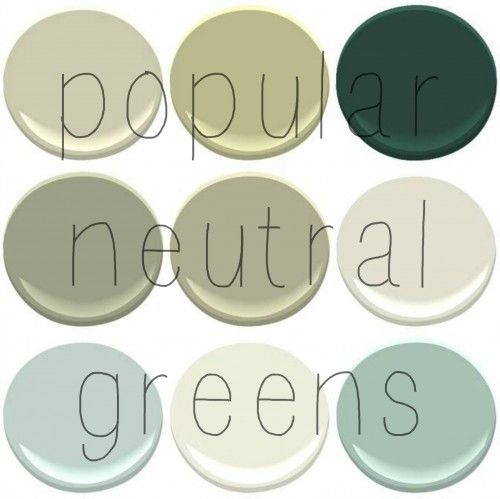 Top Selling Benjamin Moore Greens: Camoflauge, Georgian Green, Hunter Green, Louisberg Green, Nantucket Gray, November Rain, Palladian Blue,...