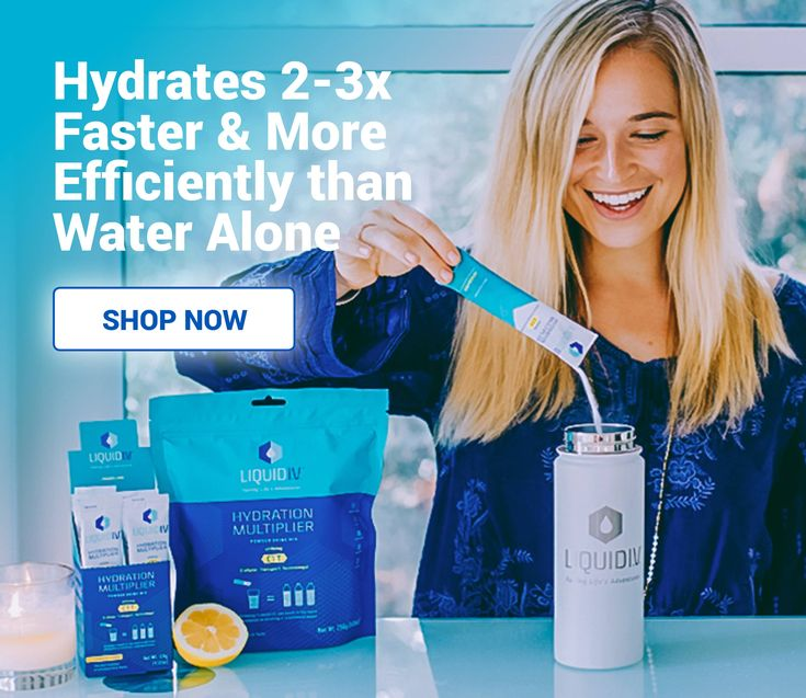 Liquid I.V.™'s Hydration Multiplier is a electrolyte drink mix that uses the science of Cellular Transport Technology (CTT)™ to hydrate faster than water alone.