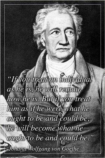 johann wolfgang von goethe GERMAN WRITER inspiring QUOTE POSTER 24X36 hot