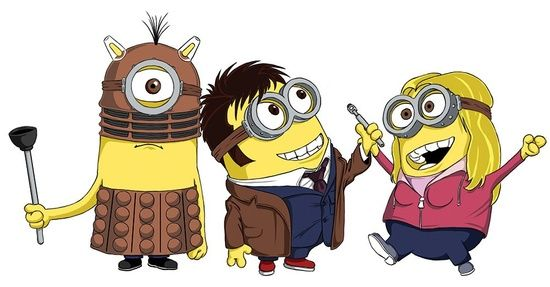 doctor who minions. this is too perfect