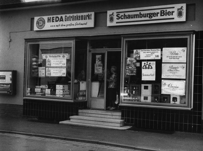 1980 Rinteln - Getränkemarkt im Ortsteil Steinbergen ☺