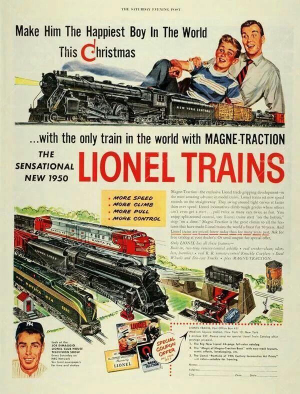 1951 Lionel Model Train /& Accessories AD *Build a Bigger Railroad*