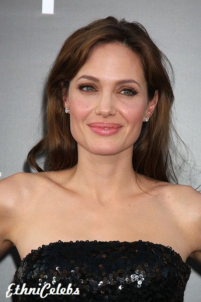 Angelina Jolie - Slovak, German (father) and French-Canadian, Dutch, German, Bohemian (Czech), 1/512 Huron Native Canadian, and 1/8192 Swiss-French (mother)
