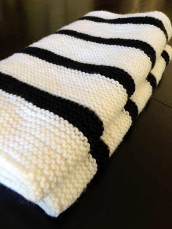 **This blanket is ready for immediate FREE shipping within the United States**    Knit from easy to wash acrylic yarn (with the feel of