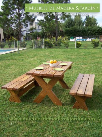 Asientos rusticos para jardin buscar con google for Muebles para jardin en madera