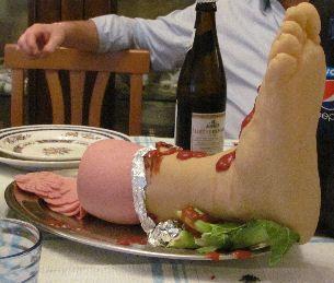Per La sera di Haloween ecco un piatto ... terrificante: L'Affettato di Polpaccio.