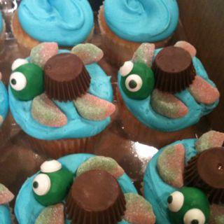 Cute turtle cupcakes