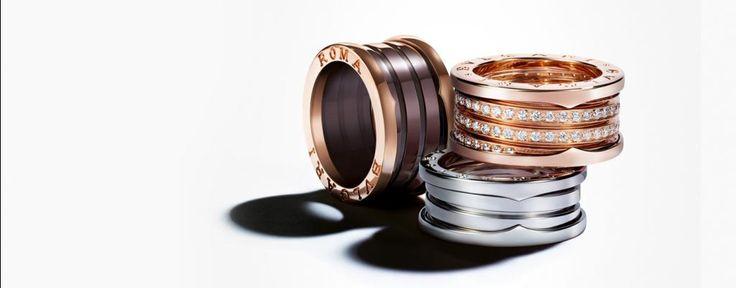 Anillos Bulgari B.zero1 | Anillos oro, cerámica y diamante