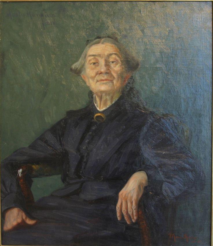 Aasta Hansteen portrait, by Marie Nielsen Hauge