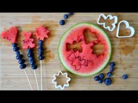 Szaszłyki owocowe z arbuza i borówek - Best Idea For
