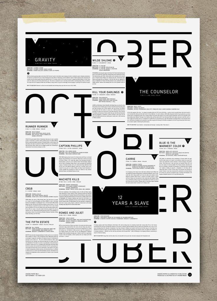 STUDIO REGIA Poster Design Layout Idea