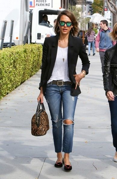 love this blazer. great length. possibly in a color.  Also great boyfriend distressed jeans.