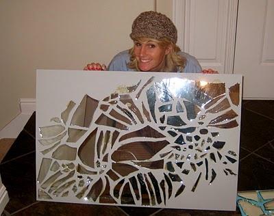 17 best ideas about broken mirror art on pinterest for Broken mirror art