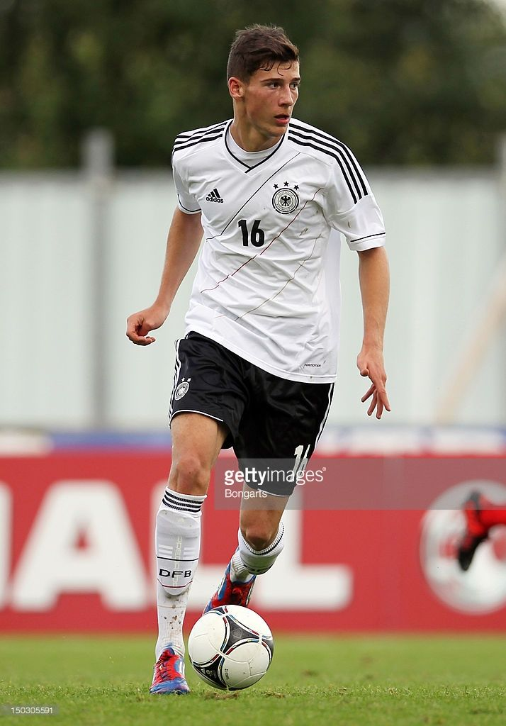 Leon Goretzka of Germany in action during the Under 19 international friendly match between Scotland and Germany at Westfield Stadium on August 14, 2012 in Falkirk, Scotland.