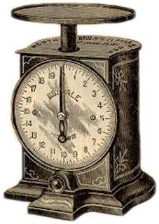 **FREE ViNTaGE DiGiTaL STaMPS**: Free Vintage Printable - Antique Weight Scale  png