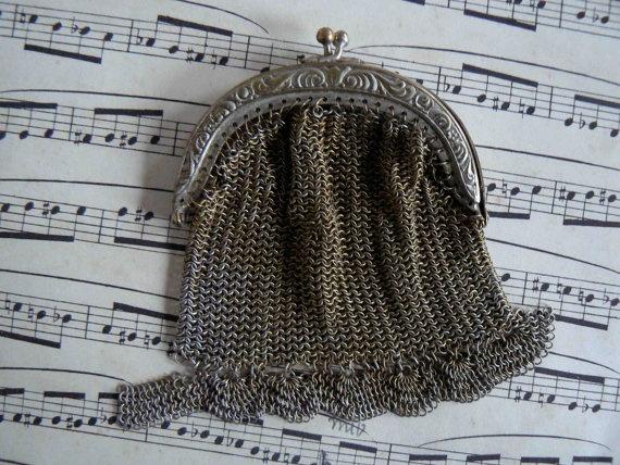 antique metal purse