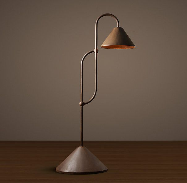 Belgian Farmhouse Floor Lamp www.restorationhardware.com Reproduction, constructed of steel and finished in weathered bronze