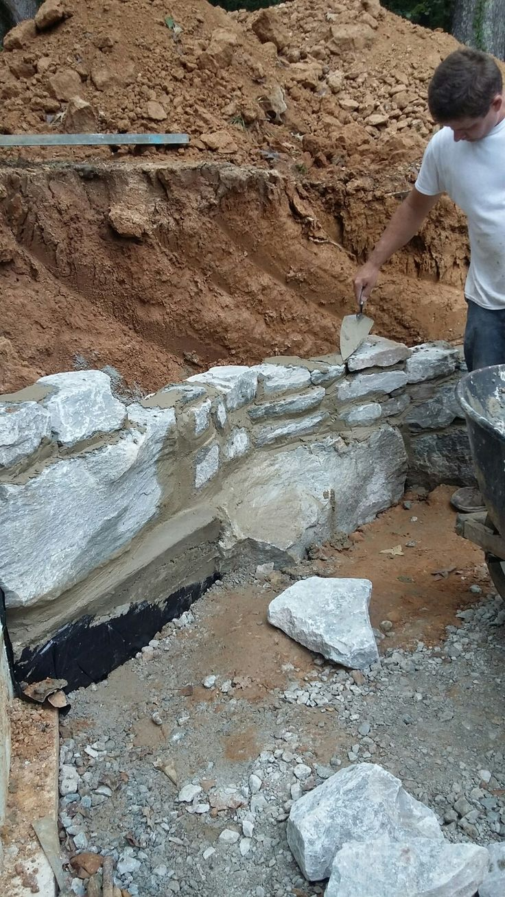 Retaining wall.... (With images) Diy cabin, Retaining