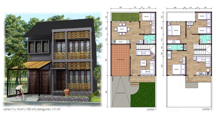 (Tirai-Bambu02) 121 m² house on 105 m² land with 4 bedrooms, 3 bathrooms, garage and carport.