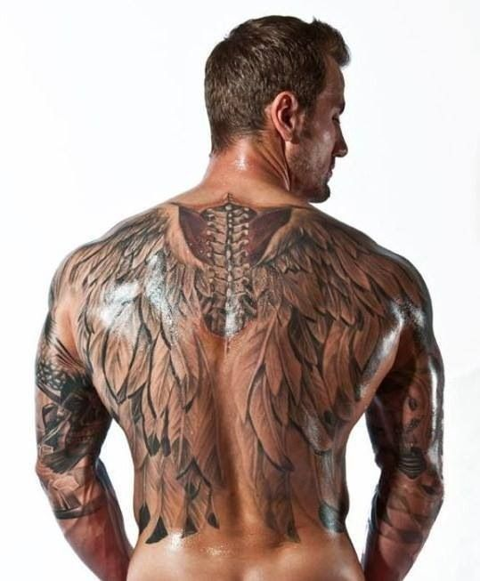 99 Breathtaking Angel Tattoos With Meaning: Men's Angel Wings