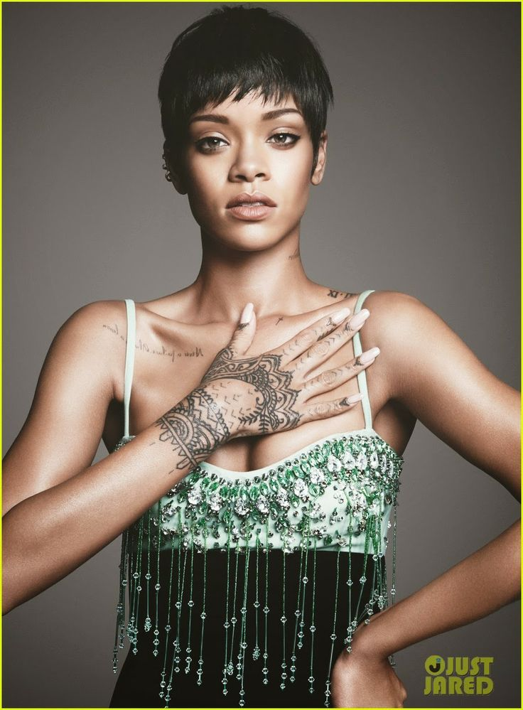 Rihanna on the cover of Vogue magazine's March 2014 issue