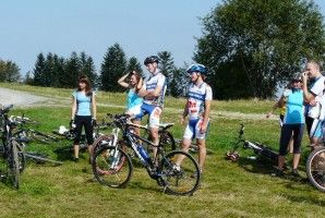 Uphill Magurka MTB contest in Wilkowice - magurka Mountain. One of the hardest uphill trails in Poland.