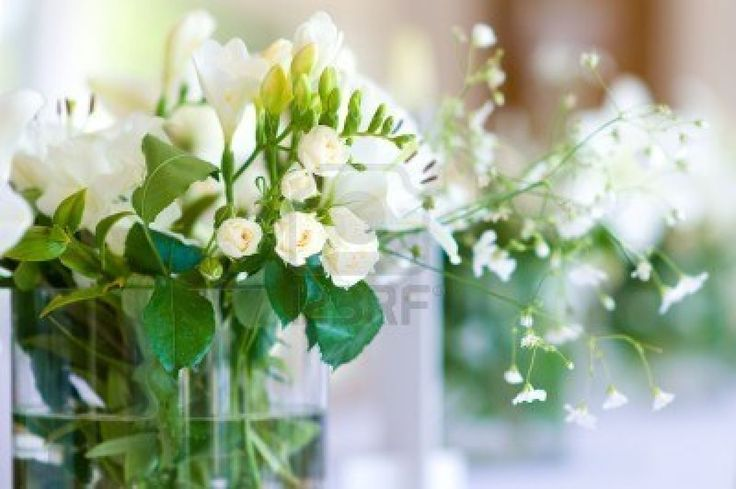 Mooi boeket van witte rozen Stockfoto - 7444239