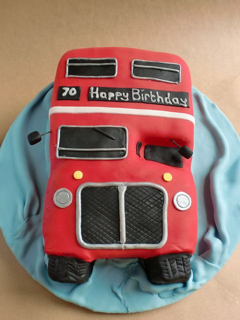 Red London Bus Cake by ruthie cupcake, via Flickr