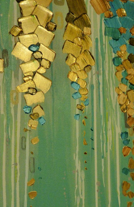 Original pintura abstracta moderna pintura por GlassPalaceArts