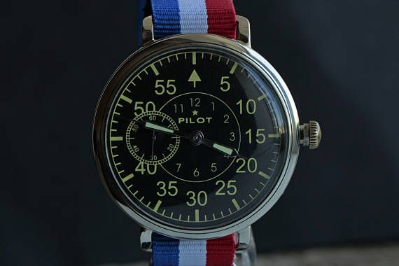 Pilot Watch/ Soviet watch / Russian watch / Mens Wrist Watch