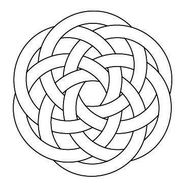 Celtic Knotwork Hexagon4 by Peter Mulkers