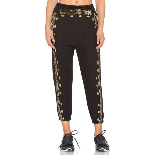 Spiritual Gangster Lotus Pattern Harem Sweatpant ($40) ❤ liked on Polyvore featuring activewear, activewear pants, print sweatpants, harem sweat pants, cotton sweat pants, sweat pants and harem sweatpants