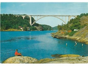 Svinesundbroen 450m lang  Norge Halden ca 1970