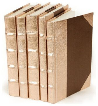 Metallic Collection Books - Rose Gold - Set of 5 transitional-books