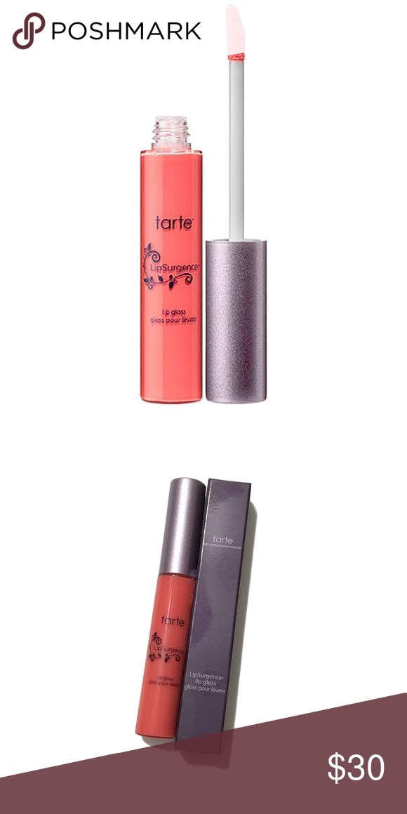 Tarte LipSurgence Lip Gloss in Tipsy BNIB Tarte LipSurgence Lip Gloss in Tipsy  A gorgeous, easy to wear peach that's not too bright for work and not too plain for play. A comfortable formula that isn't sticky at all and feels lightweight.   ❌ Sorry, no trades. Sephora Makeup Lip Balm & Gloss