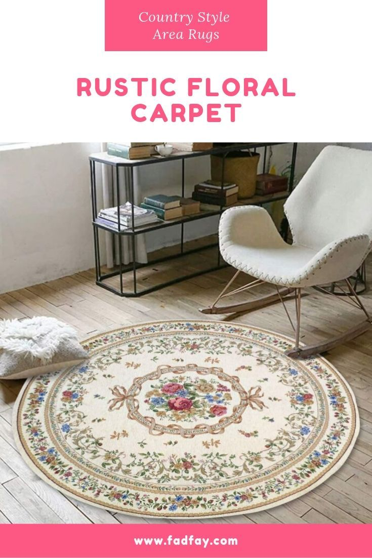 Rustic Fl Flowers Design Area Rugs
