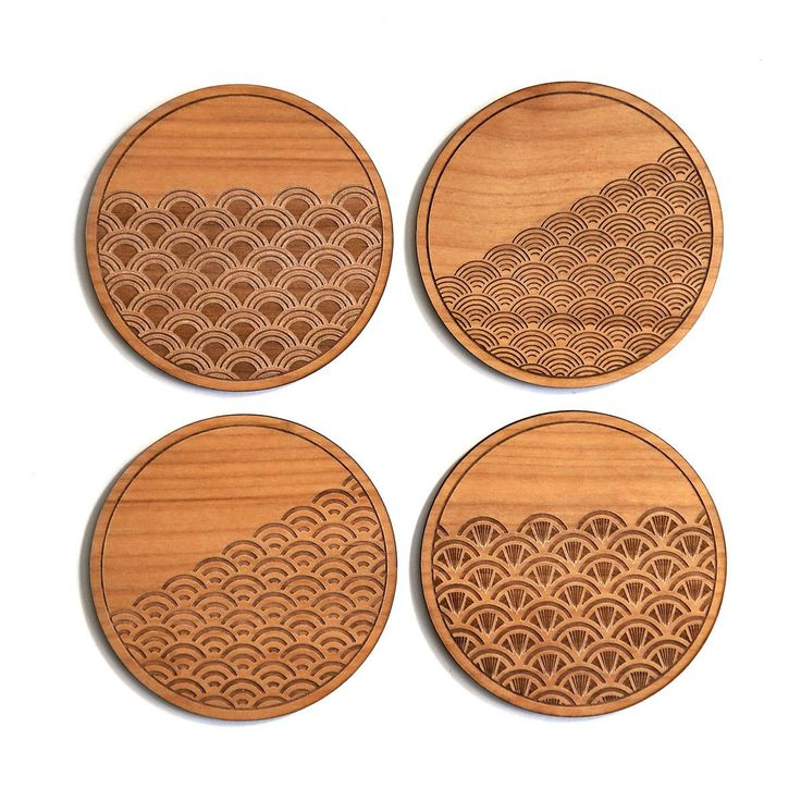 Scallop Traditional Coasters