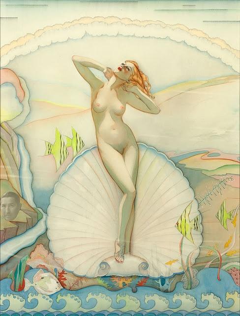 Alberto Vargas : Venus in a Half Shell 1937