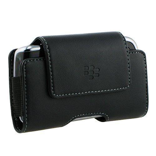 Buy BlackBerry Black Leather Horizontal Holster with Standard Belt Clip for BlackBerry 9630 Tour - HDW-23468-001 NEW for 7.66 USD | Reusell