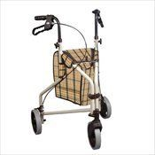 """Drive Medical 199 Winnie Lite Supreme Aluminum Three Wheel Rollator, Tan Plaid by Drive Medical. Save 56 Off!. $90.99. The Winnie Lite Supreme/Go-Lite Three Wheel Rollator by Drive Medical comes in an attractive tan finish. The lightweight, solid 7.5"""" tires are ideal for indoor and outdoor use and ensure a smooth ride over most surfaces. The rollator also comes with a standard, tan plaid carry pouch that is underneath the seat to easily and securely transport personal items. This 3 wheel…"""
