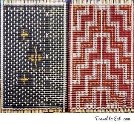 Turapa (woven panels). Te Puia (Weaving School), Māori Arts and Crafts Institute. Rotorura, New Zealand