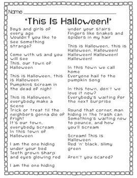 this is halloween lyrics original